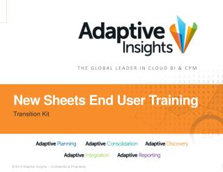 New Sheets End User Training
