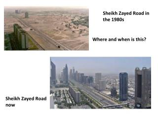 Sheikh  Zayed  Road in the 1980s