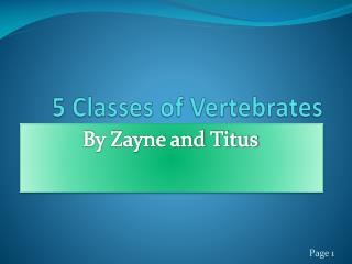 5 Classes of Vertebrates