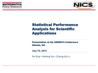 Statistical Performance Analysis for Scientific Applications