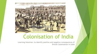 Colonisation of India