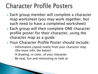 Character  Profile Posters