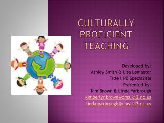 Culturally proficient teaching