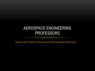 Aerospace Engineering  Professors