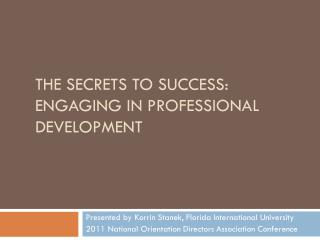 The Secrets to Success: Engaging in Professional Development