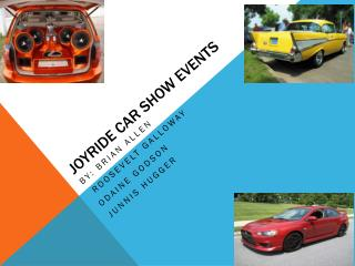 Joyride Car Show Events