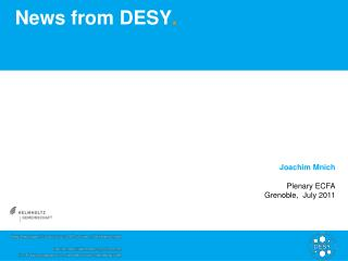 News from DESY .