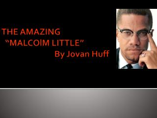 """THE AMAZING    """" MALCOlM LITTLE""""                             By Jovan Huff"""