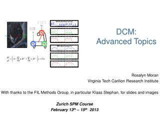 DCM:  Advanced Topics