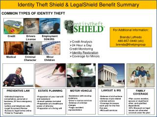 Identity Theft Shield & LegalShield Benefit Summary