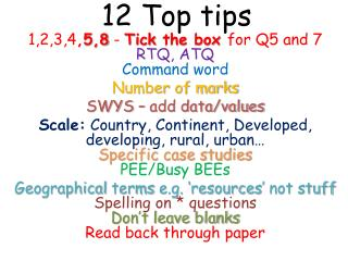 12 Top tips