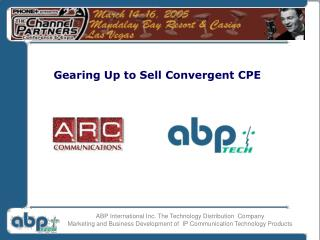ABP International Inc. The Technology Distribution Company