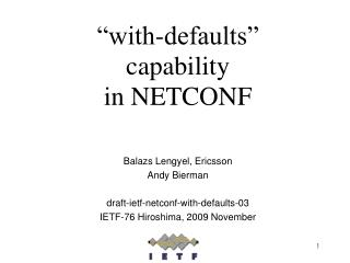 """with-defaults"" capability in NETCONF"