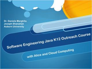 Software Engineering Java K12 Outreach Course
