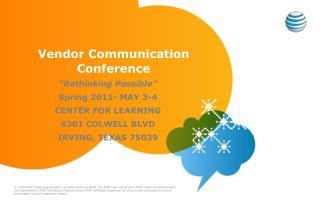 Vendor Communication     Conference