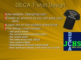 DECA T-shirt Design