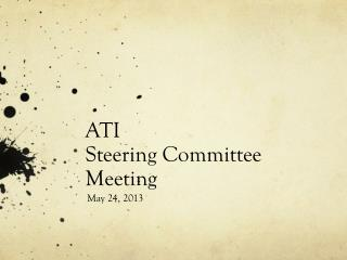 ATI  Steering Committee Meeting