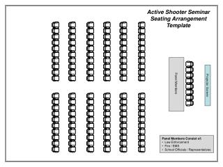 Active Shooter Seminar Seating  Arrangement Template