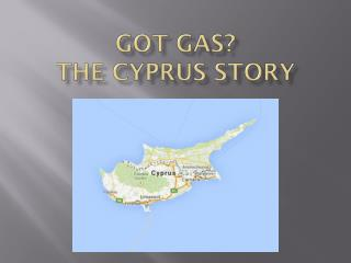 Got gas?  the  cyprus  story