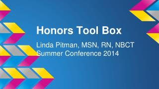Honors Tool Box