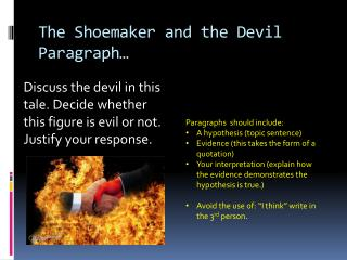 The Shoemaker and the Devil Paragraph…
