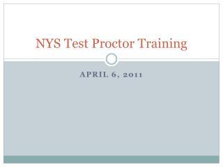 NYS Test Proctor Training