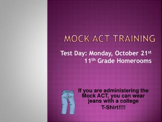 Mock ACT Training