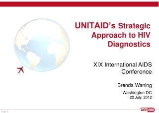 UNITAID's  Strategic Approach to HIV Diagnostics