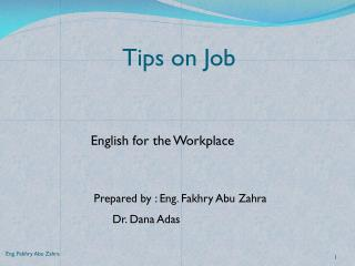Tips on Job