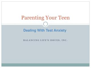 Parenting Your Teen