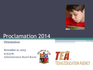 Proclamation 2014