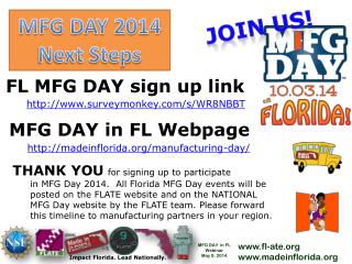 MFG DAY in FL Webpage