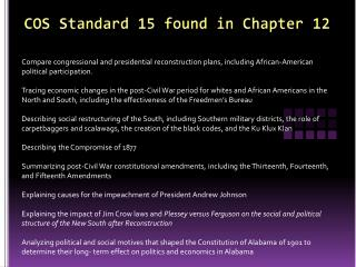 COS Standard 15 found in Chapter 12