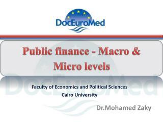 Public finance - Macro & Micro levels