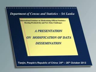 Department of Census and Statistics – Sri  Lanka