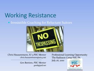 Working Resistance