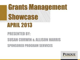 Grants Management Showcase
