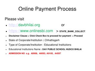 Online Payment Process