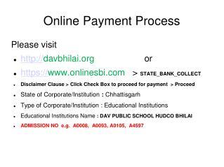 Online Payment Process