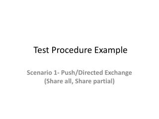 Test Procedure Example
