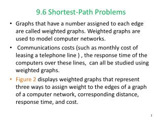 9.6 Shortest-Path Problems