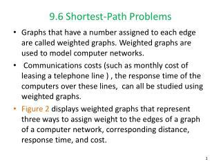 9.6 Shortest-Path Problems