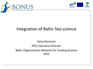 Integration of Baltic Sea science