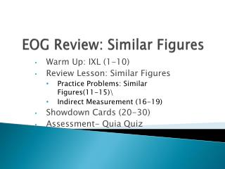 EOG Review: Similar Figures