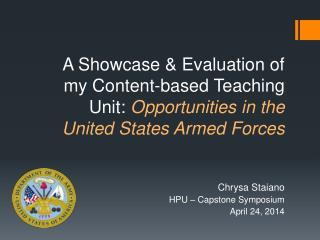 Chrysa Staiano HPU – Capstone Symposium April 24, 2014