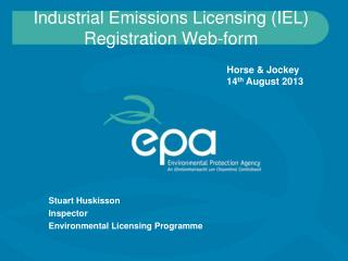 Industrial Emissions Licensing (IEL) Registration Web-form