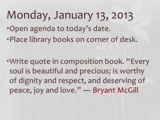 Monday, January 13, 2013