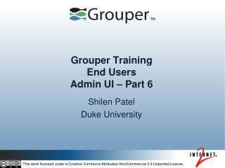 Grouper Training End Users Admin UI – Part 6