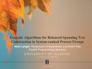 Exascale Algorithms for Balanced Spanning Tree Construction in System-ranked Process Groups