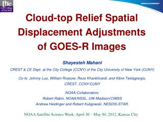 Cloud-top Relief Spatial Displacement Adjustments of GOES-R Images